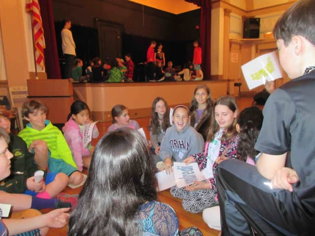 Main Street School fifth-graders teamed up with Irvington Middle School teachers and sixth-graders on March 24 for a day of educational activities at the annual World Language Fair.