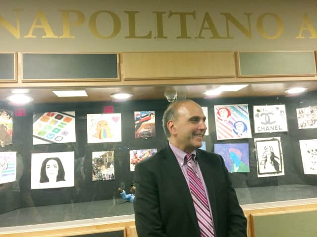 Dr. Ralph Napolitano at the dedication of the new auditorium to him.