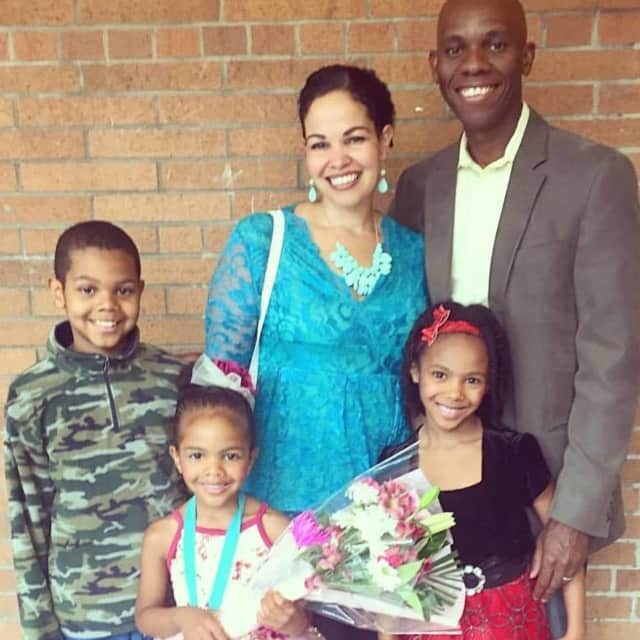 Yadira Laguerre and her family. She is Director of Bergen Country New Jersey Classical Conversations in Englewood.