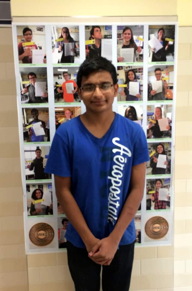 Yasir Khan, a senior at Ossining High School, was chosen as a semifinalist in the 2015 Siemens Competition in Math, Science and Technology.
