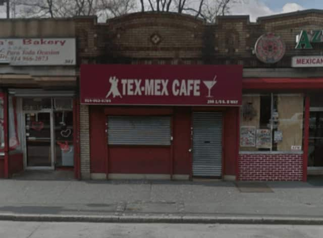 Tex-Mex Cafe, a tavern on South Broadway in Yonkers, was the scene of some gunplay early Friday. No one was hurt in the incident, but two men have been arrested.