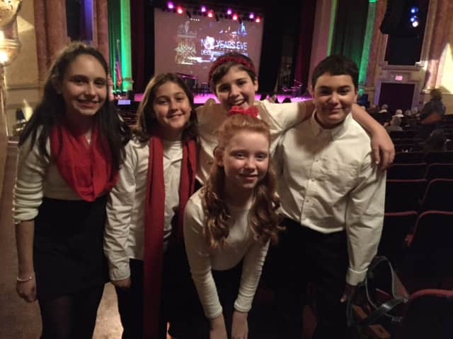 Pictured, in rear from left, Brianna Ferra, Alden Murphy, Alice Tinari, Sean McCurry and in front, Danielle Palmentieri.