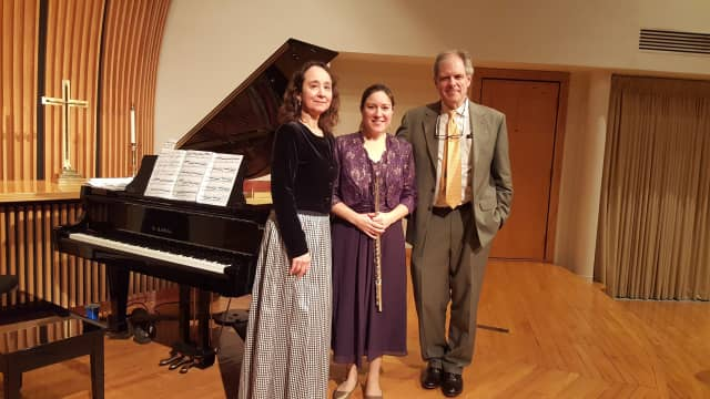 Carmen Rodriguez-Peralta, Elizabeth Ostling and John Ferrillo, left to right, at a Boston-area performance earlier this season.
