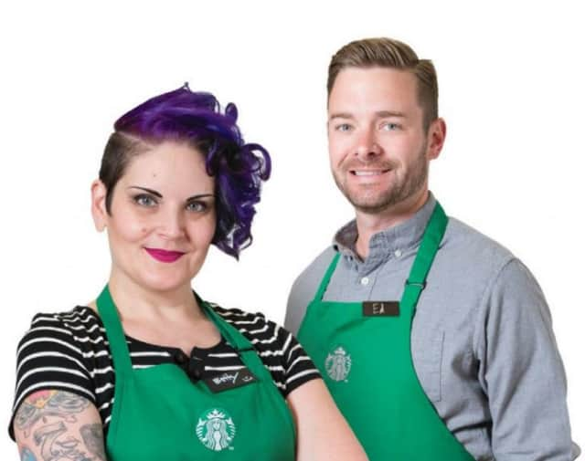 Blue hair and tats are on the clothing menu for baristas at Starbucks nationwide.