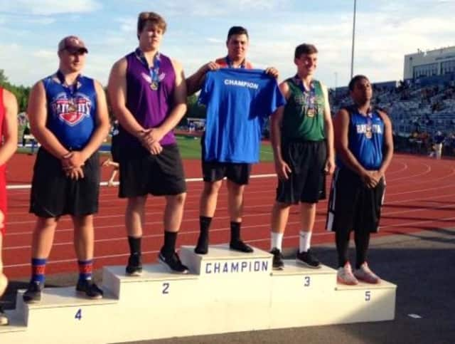 Briarcliff High School's Jack Zimmerman has been named a New York State shot put champion.