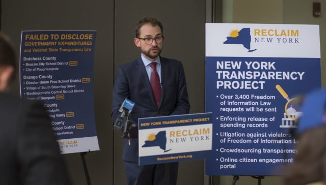At a press conference, Reclaim announced its filing a lawsuit against the Peekskill School District, Beacon School District and Spring Valley.