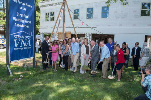 Stratford Visiting Nurse Association broke ground on a new headquarters Wednesday.