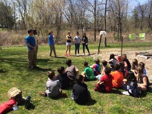 Third-grade students from Purchase Elementary School visited Manhattanville College on Friday to learn about Earth Day.