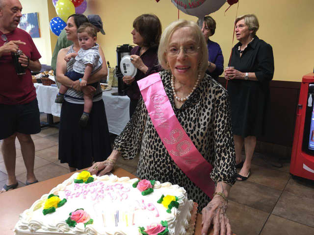Scarsdale Candy'n Cards owner Emily Hirsch celebrates turning 99.