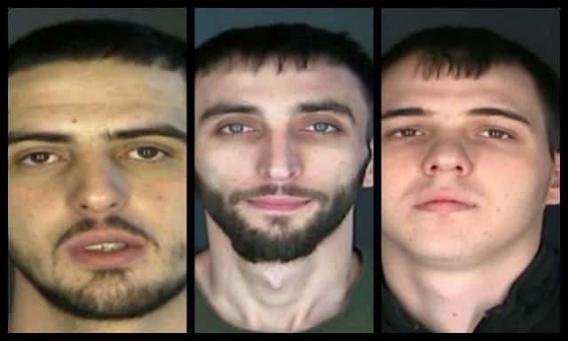 Orgen Hoxha, from Overlook Terrace, Clifton, New Jersey resident Armand Selmani, 23 and Bronx native Gramos Muhaxheri, 22, were arrested by Scarsdale police.