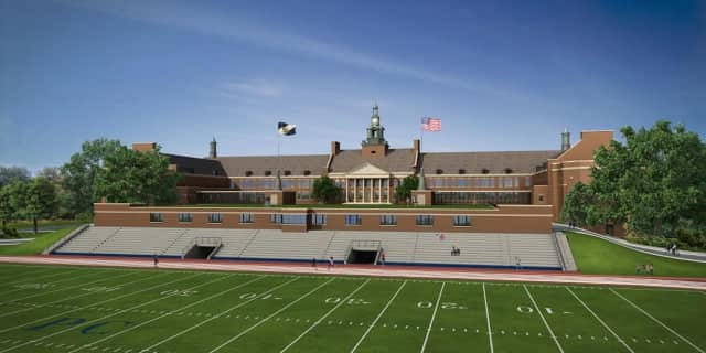 An artist's rendition of the proposed turf field at Port Chester High School.