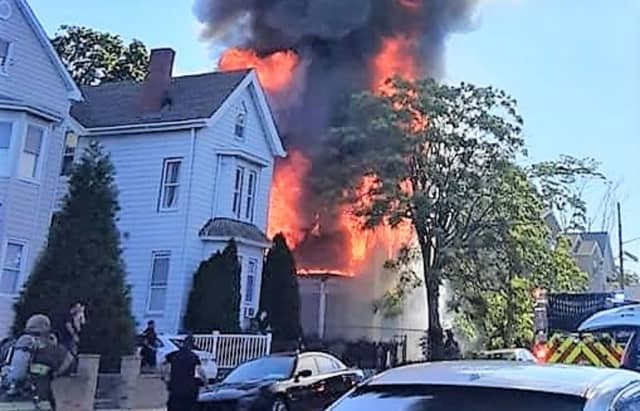 Flames quickly consumed the abandoned Fair Street home on Paterson's east side.