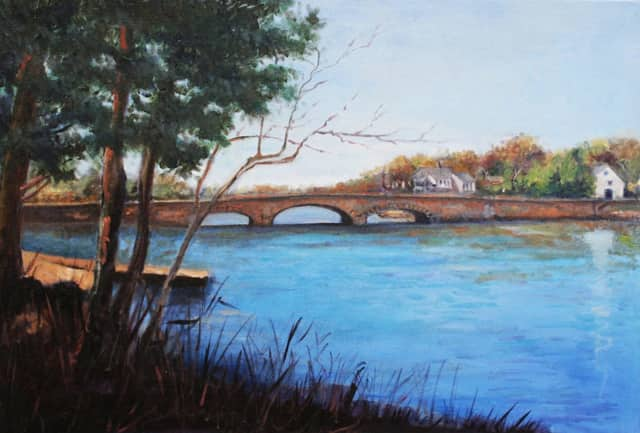 "Elisabeth Agular's ""Rings End Bridge"" will be featured in a September exhibition at Geary Gallery in Darien."