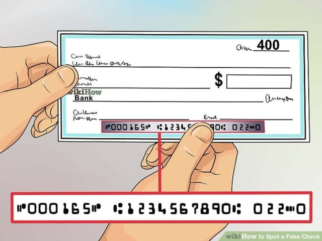 Area residents are being warned about a fake check scam making the rounds.