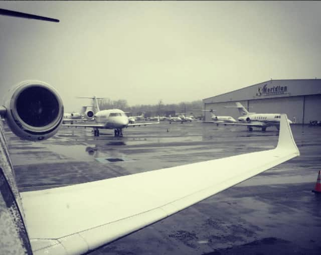 A photographer captured a view of Teterboro Airport.