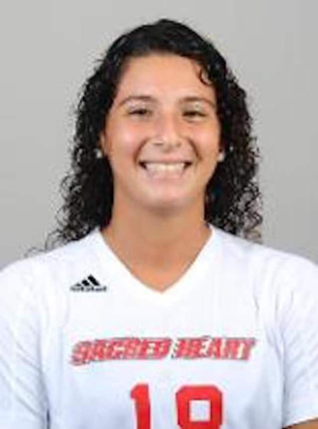 Alex Mesropyan of Sacred Heart University was named the Northeast Conference's Rookie of the Week.