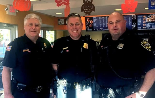 FROM LEFT: Allendale Police Chief George Scherb, Sgt. Bill Kroepke, Officer Vincent Rizzo.
