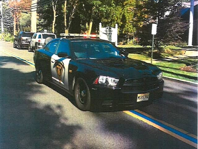 Alpine's finest drives along the borough's thin blue line.