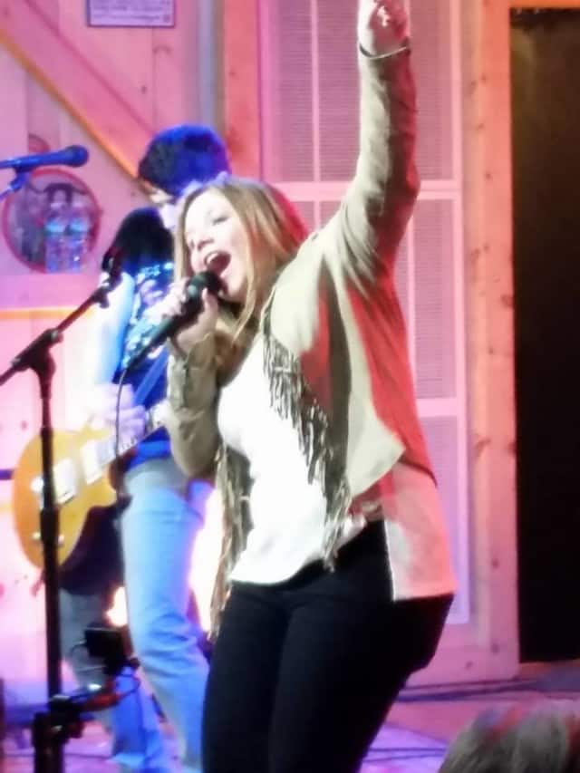 Amanda Ayala performing at Daryl's House Club in Pawling on Sunday.
