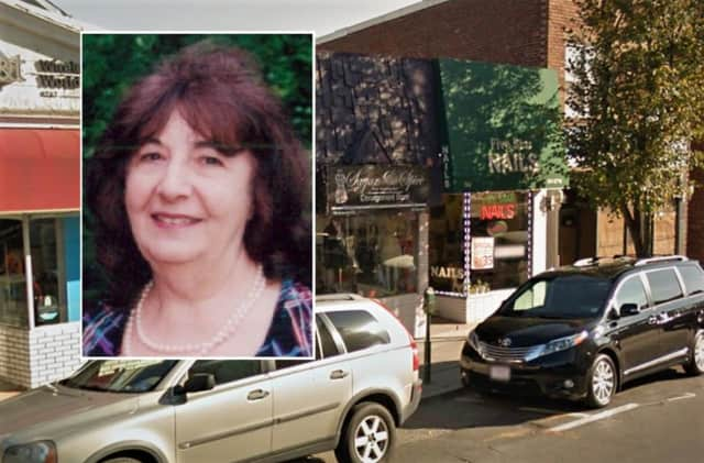 Victoria Desimone was found in front of the stores to the right of her photo above.