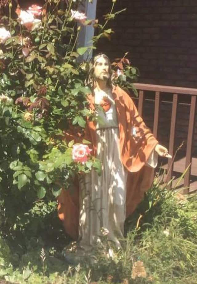 A statue of Jesus was returned to Angels & Co. in Monroe.