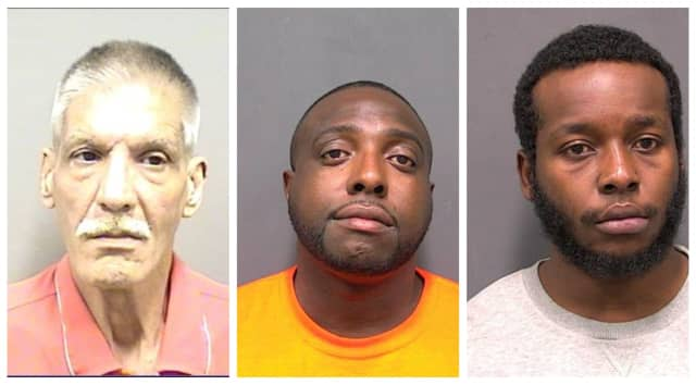 Steven Hernandez, Derrick Smith, and David Clifford were three of the six arrested during a sweep by Rockland County Sheriff's deputies.