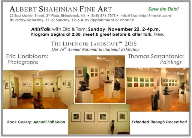 Art Along the Hudson will hold a free ArtistTalk at Albert Shahinian Fine Art on Nov. 22.