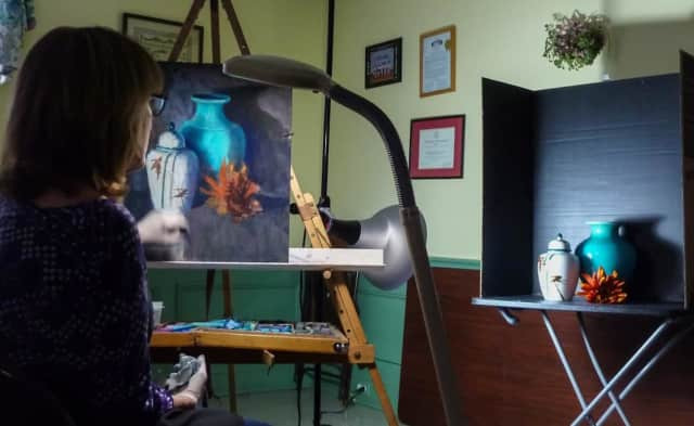 Artist Stephanie Cook's work will be on display in Wyckoff during May.
