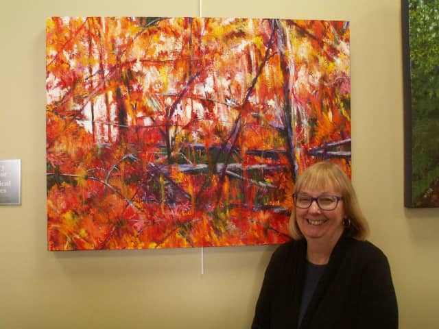 """Paintings by Kathryn Morrill are on view March 6 - April 29 in the exhibit """"Growing"""" at the Pine Gallery."""