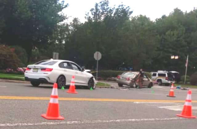 The Corolla (right) turned into the path of the BMW (left) on River Road in Edgewater, police said.