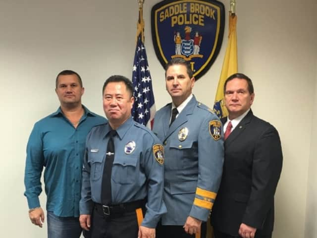 Members of the United States Asian American Law Enforcement Foundation delegation to Macedonia and Bulgaria, including Saddle Brook Police Chief Robert Kugler (second from right).