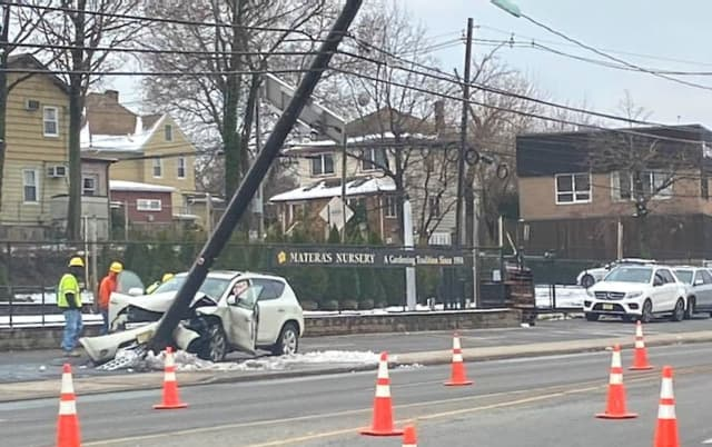 The crash caused huge backups on both sides of Broad Avenue (Rt 1/9) in Ridgefield.