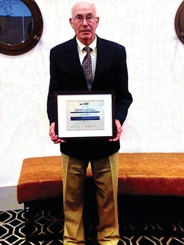 """Bernard Miller retired in June after 30 years of competitive employment as a client of Kennedy Center. He has been given an """"Everyday Hero"""" award."""