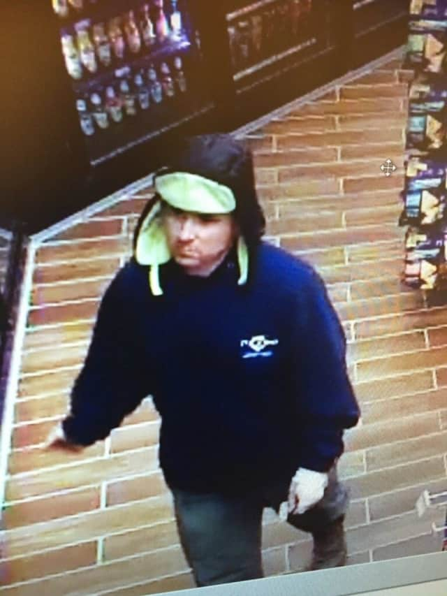 Police are looking for this man in connection with a strong-arm robbery Wednesday night at a store in Bethel.