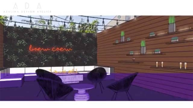 Rendering of The Backyard Bar, coming to 359 First St., in Hoboken.