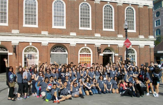Rutherford High School band and choir members, teachers and parent chaperones recently traveled to Boston, where the students performed in the High Note Music Festival.