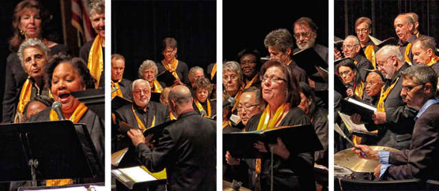 Members of the Teaneck Community Chorus perform during a recent concert.