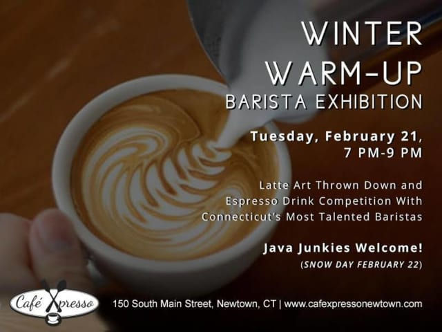 Barista will showcase their designs at Cafe Xpresso in Newtown on Tuesday, Feb. 21.