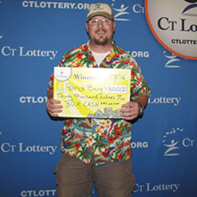 Patrick Barry of Danbury bought his $30,000 lottery scratch-off winner in Bethel.