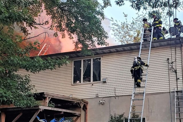 Palisades Park firefighters overcame the conditions to save the house.
