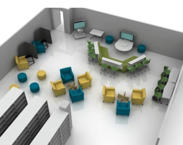 The Briarcliff Manor Education Foundation has approved a $97,000 grant for the funding of new learning spaces at the village's middle and high schools (shown in model).