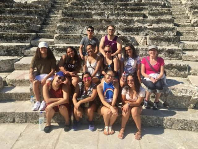 HCC students at the Sanctuary of Asklepios in Epidaurus, Greece, June 2017.