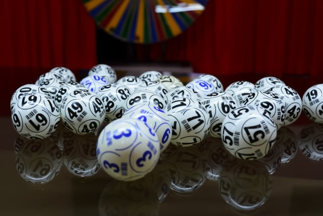 Photo illustration of lottery balls
