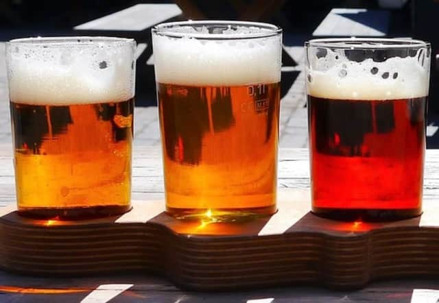 The new Little Ferry pub offers beer flights.