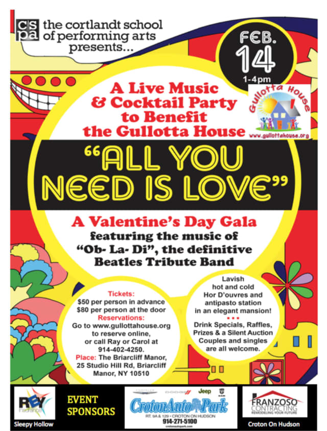"""The """"All You Need Is Love"""" gala will benefit Gullotta House."""