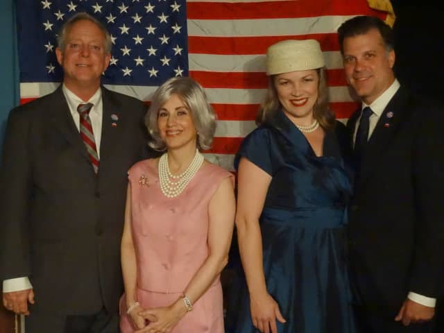 """Left to right are Rick Harrington, Deborah Burke, Morgan Wilson Graham and Frank Speranzo, who will appear in """"The Best Man"""" at Curtain Call in Stamford."""