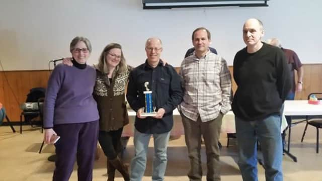 """This trivia contest winning team is known as the """"Beta Blockers."""""""