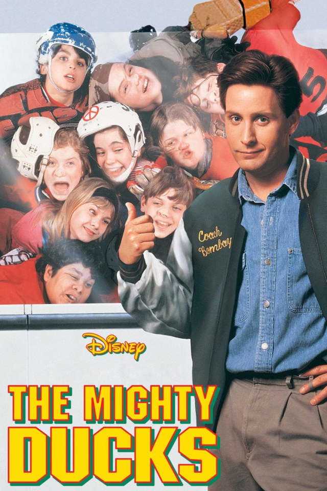 """""""The Mighty Ducks,"""" starring Emilio Estevez will be shown free Monday at the Bergenfield Public Library."""