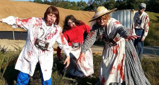 Zombies are part of the fun at the Bergenfield Zombie 5K Run