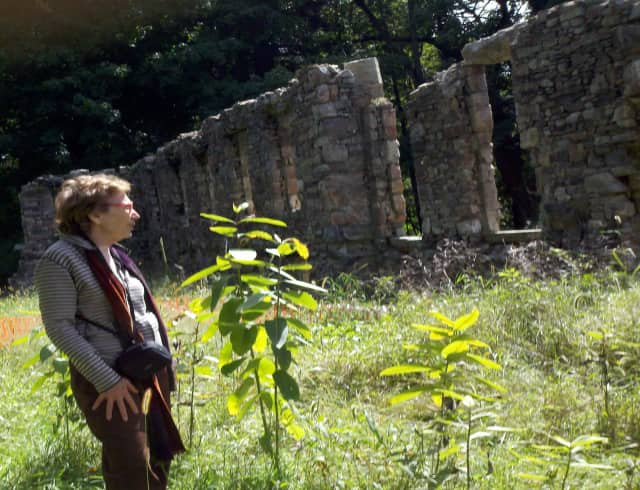 Pictured is Shelby White, whom, along with the Jerome Levy Foundation, is stabilizing and preserving the ruins at the 386-acre preserve named after her husband, Leon Levy.